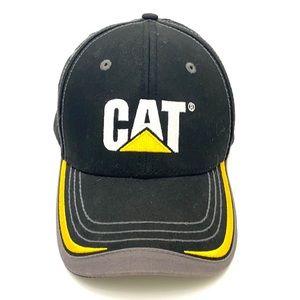 Caterpillar Unisex Black 6-Panel Trademark Hat